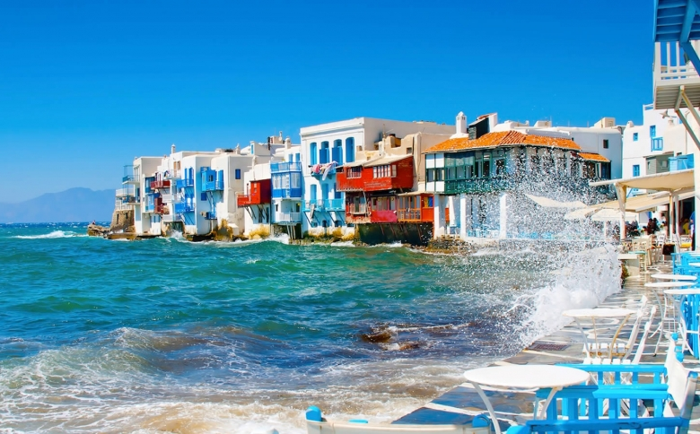 """Little Venice"" in the Chora of Mykonos"